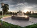 Фонтан в парке города Малоархангельска
