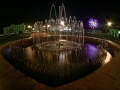 Фонтан в парке города Малоархангельска. Ночь.