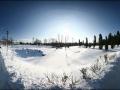 Детский парк Малоархангельска зимой