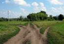 Перекрёсток близ села Луковец