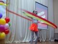 Упражнеие с лентой показывает Катя Татаурова.