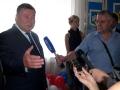 Губернатор области А. П. Козлов отвечает на вопросы журналистов.