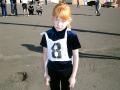 Самая юная участница осеннего кросса.
