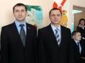Депутаты Сергей Дорофеев и Павел Будагов в Луковской средней школе.