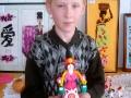 Никита Чумаков с куклой-водоноской.