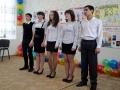 Военная песня в исполнении юнармейского отряда.