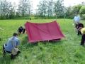 Палатку поставили быстро и правильно.