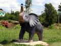 Слон на детской площадке Малоархангельска