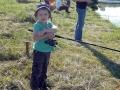 Самый юный участник корпоративных соревнований по рыбной ловле.