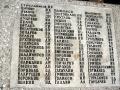 Мраморные плиты с фамилиями братского захоронения в Елизаветино