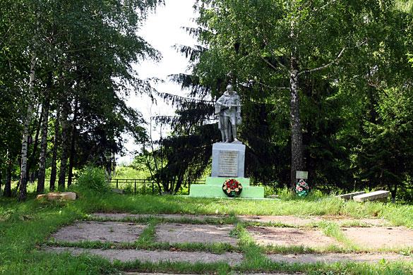 Общий вид воинского захоронения д. Репьёвка. 2009 год.