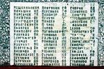 Мраморные плиты с фамилиям: правая часть