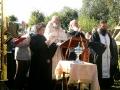 Молебен на начало дела и освящение Креста.