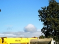 Во время молебна по небу проплыл еще один купол, но не золотой, а бледно-голубой.