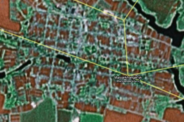 Малоархангельский район на карте Гугль