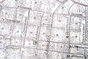 Карта Малоархангельска с дореволюционными и современными названиями улиц