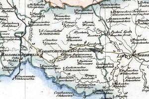 Малоархангельский уезд на карте 1822 года