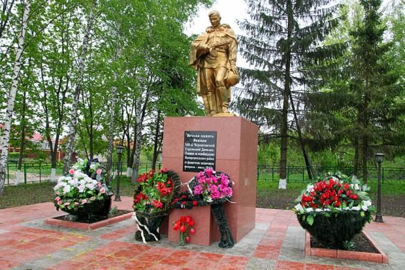 Памятник братского воинского захоронения в Репьёвке.