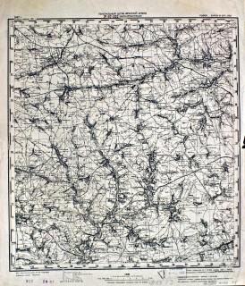 Карта Генерального штаба Красной Армии, 1937 год: N-37-122.