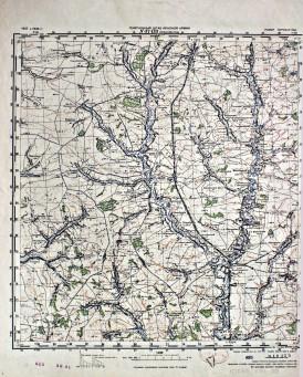 Карта Генерального штаба Красной Армии, 1937 год: N-37-133.