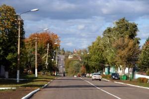 Центральная улица Малоархангельска в день визита Президента РФ