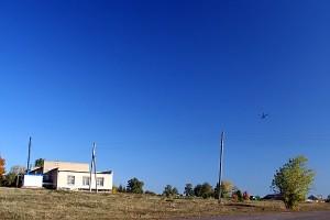Вертолёты возвращаются на базу. 03.10.2009 г.