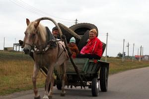 Эта повозка едет ОТ Малоархангельска. На Пенькозавод или в Мамошино.
