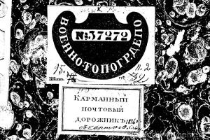 Обложка Указателя губернских и уездных почтовых дорог Савинкова