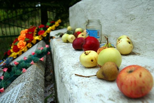 Летом на братском захоронения в Луковце