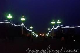 Александровский мост ночью