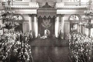 Торжественное открытие Государственной думы и Государственного совета. Зимний дворец. 27 апреля 1906. Фотограф К. Е. фон Ганн.