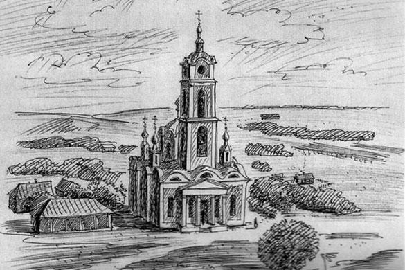 Город Малоархангельск. Церковь Сретения Господня. 1868 г