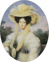 Элеонора Тютчева. Акварель Й. Шелера. Около 1827 г.
