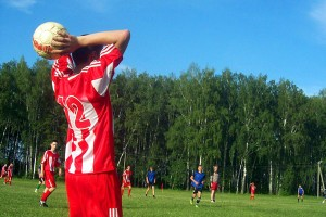 Угловой. Футбольный матч между командами Малоархангельского и Покровского районов.