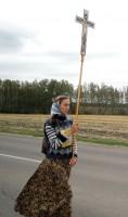 Участница крестного хода