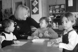 Лариса Михайловна Бакалдина с детьми