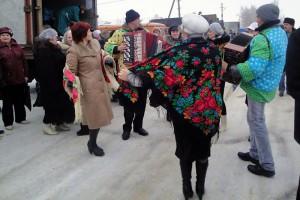На новогодней ярмарке в Малоархангельске.