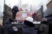 29 декабря 2010 года, предновогодняя ярмарка. Мясо — 140 рублей за килограмм.