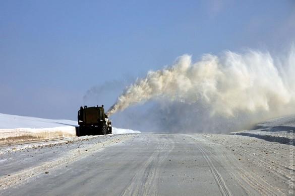 Очистка от снега автотрассы Малоархангельск — Колпна.