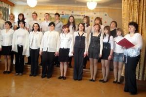 Выступление хора Малоархангельского профессионального училища № 5.