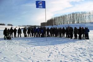 Участники районного соревнования по подлёдному лову рыбы на пруду Новом Беленьком.