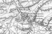 Деревня Медведево на карте Шуберта, 19 век.