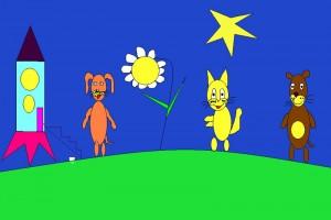 Жили-были на нашем дворе неразлучные друзья: кот Самсон, пес Рекс и хомяк Хомка.