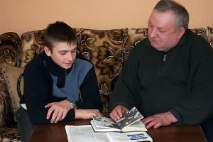 Вадим с дедушкой.