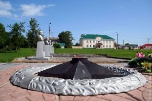 Вечный огонь в Парке Победы Малоархангельска.