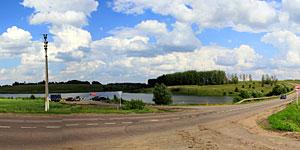 Панорама дороги на Колпну и Подгороднюю. Вид из Малоархангельска. Нажмите на изображение, чтобы перейти к осмотру (откроется в новом окне).
