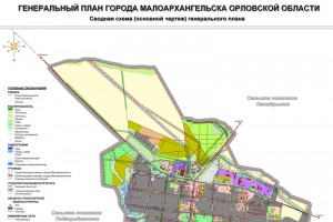 Сводная схема к проекту генерального плана города Малоархангельска.