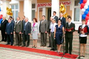 Во время праздничного открытия Малоархангельской средней школы № 2.