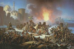 Штурм Очакова. Картина Я.Суходольского, 1853 г.