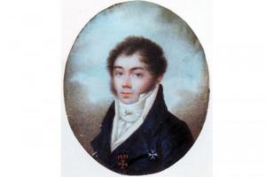Яков Скарятин в 1810-ые г. г., миниатюра неизвестного художника.